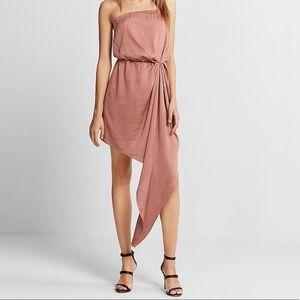 NWT Express Asymmetrical Hem Strapless Dress